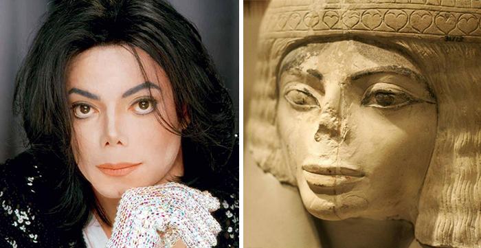 cosas que se parecen a otras, michael jackson qu es igual a una estatua egipcia