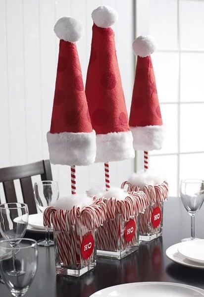 crea centros de mesa con bastones de caramelo para despus de la cena