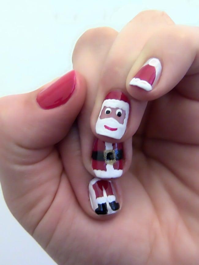 Dibujos De Navidad En Unas.20 Ideas Creativas Para Decorar Tus Unas Durante Navidad