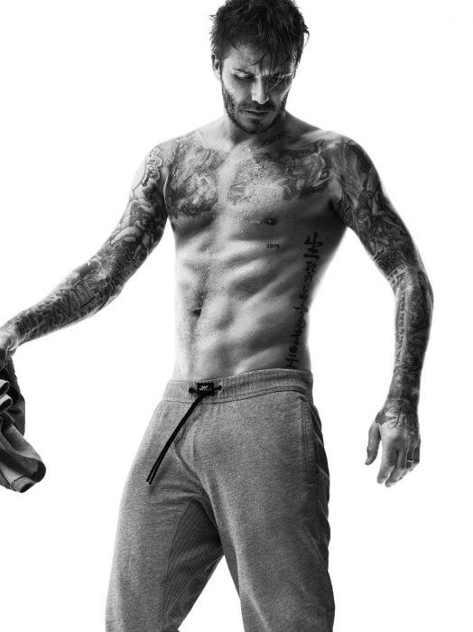 David Beckham con pantalón de chándal