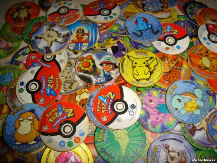 Colección de tazos de pokemon