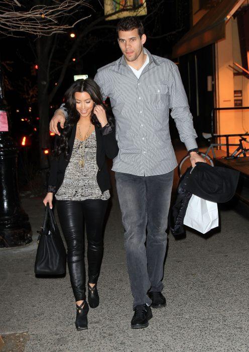 Kim Kardashian y su ex esposo Kris Humphries