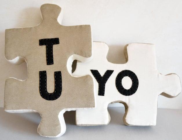 Regalos que puedes hacer por ti misma, almohadas de puzzle