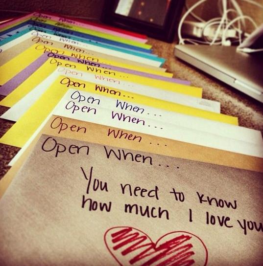 Regalos que puedes hacer por ti misma, cartas con mensajes de amor