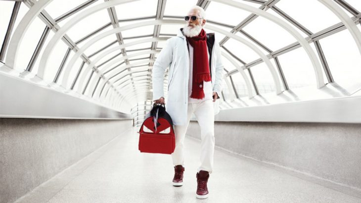 Santa claus fashion de Yorkdale de blanco