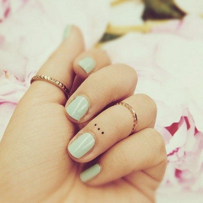 Tatuajes miniatura puntos