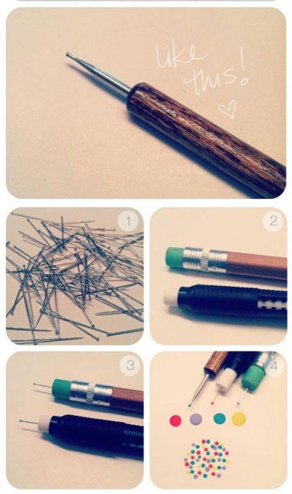 Diseños de uñas con lapiceros