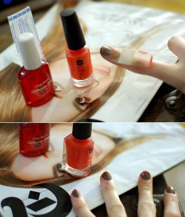 uso de curitas para crear un manicure francés perfecto
