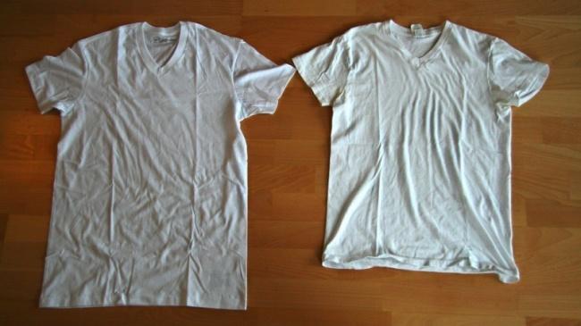 Camisa encogida pero lavada con champú de bebé