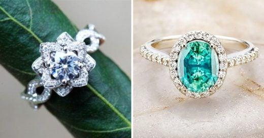 25 hermosos ejemplos de anillos de compromiso al estilo vintage
