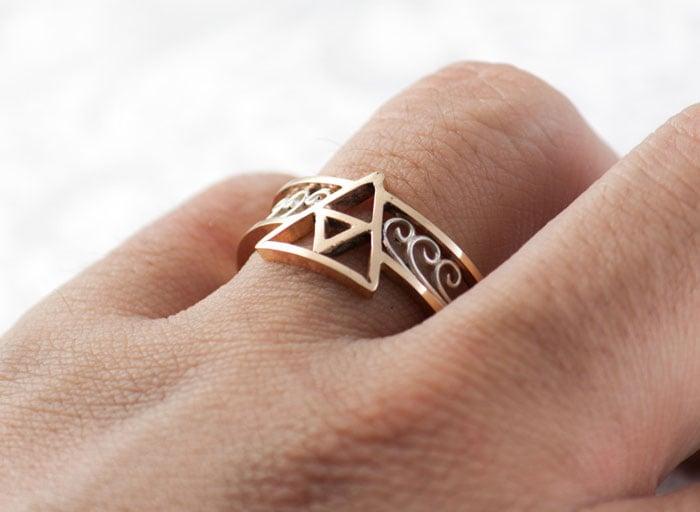 anillo geek de compromiso de legend of zelda