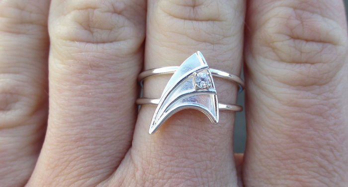 anillo de compromiso geek de star trek