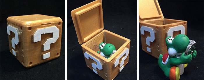 anillo de compromiso geek en una caja de mario bross