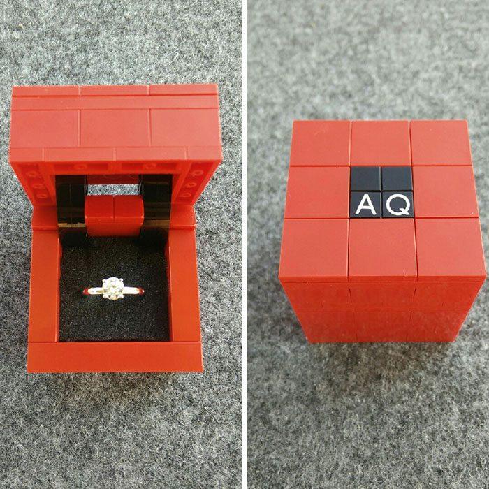 anillo de compromiso de lego