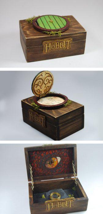 anillo de compromiso geek del hobbit