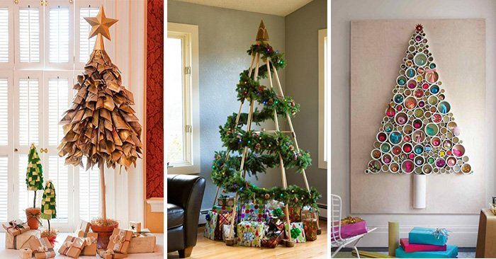 ideas para poner un árbol de navidad muy original y sin gastar mucho dinero