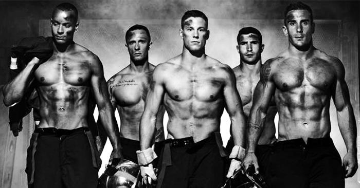 Calendario 2016 de fotos para el cual posaron unos guapos y muy atractivos bomberos franceses