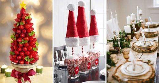 16 divertidas y originales maneras de decorar en navidad - Mesas para navidad ...