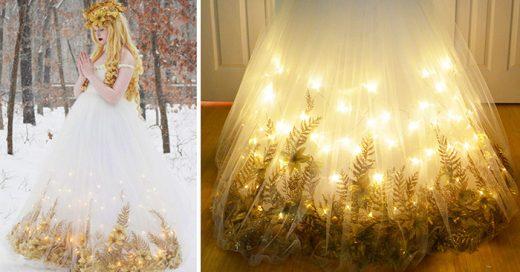Chica de 18 años diseña impresionantes vestidos inspirados en las princesas de Disney
