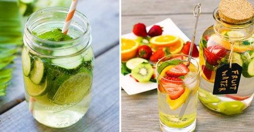 10 Formas de beber agua para desintoxicar tu organismo y estar saludable
