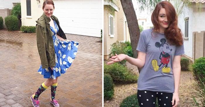 Una mujer dejó que su hijo de tres años la vistiera durante una semana, aqui se muestran los resultado
