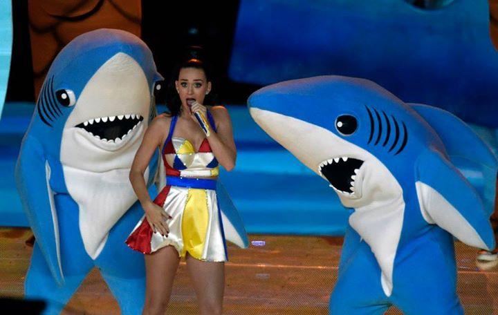 Meme tiburón Katie Perry Super Bowl