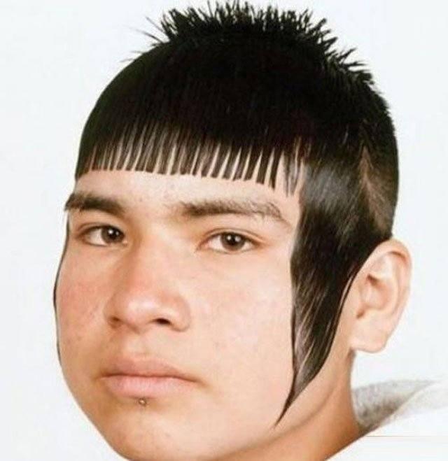 chico con corte de cabello feo