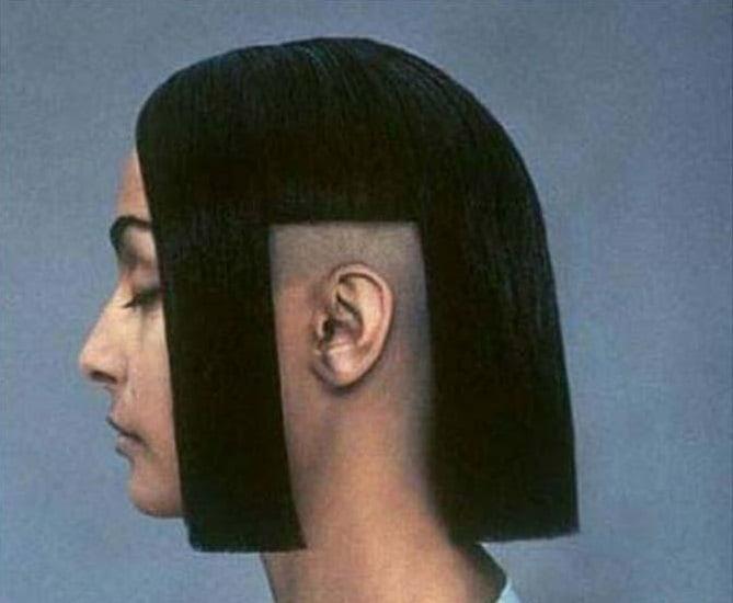 chico con corte de cabello más corto encima de las orejas
