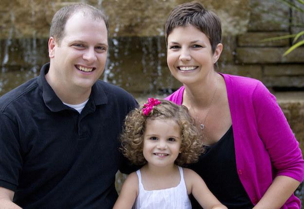 Heather McManamy, esposo e hija