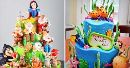 Ideas creativas y deliciosas de pasteles inspirados en películas de Disney
