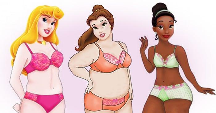 Las princesas de Disney están de vuelta pero ahora convertidas en mujeres 'curvy' en lencería