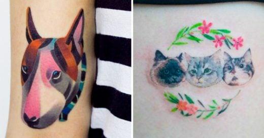 ideas de tatuajes para las personas que son amantes de las mascotas