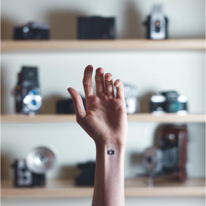 tatuajes miniatura cámara