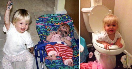 imagenes de travesuras e ideas locas que tienen los niños, y que son muy divertidas
