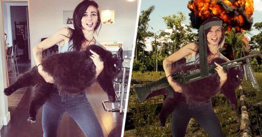 Internet trolleo a esta chica con un gato, que pidió ayuda para que le cambiaran el fondo a la imagen, aquií el resultado