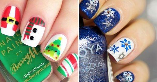 Ideas de diseños para uñas navideñas
