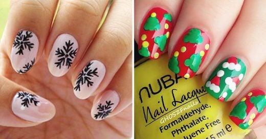 creativas ideas para sacar tu espritu navideo y decorar tus uas durante esta navidad