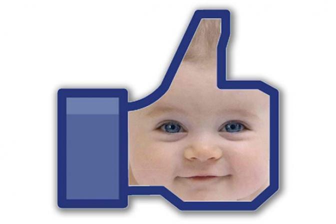 like de facebook con foto de bebé