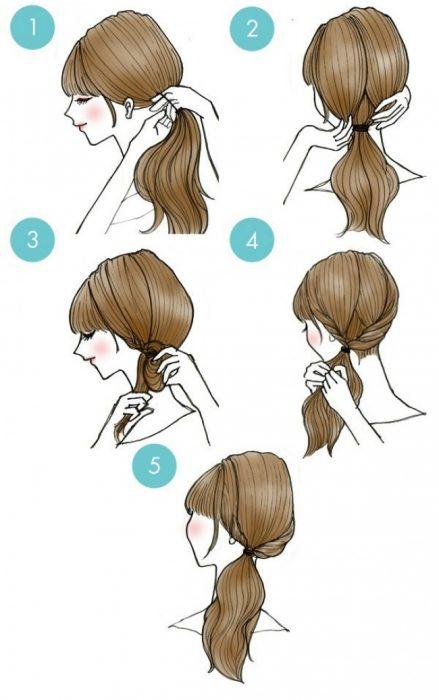 peinado coleta baja entrelazada