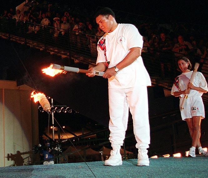 Muhammad Ali encendiendo pebetero Atlanta 96