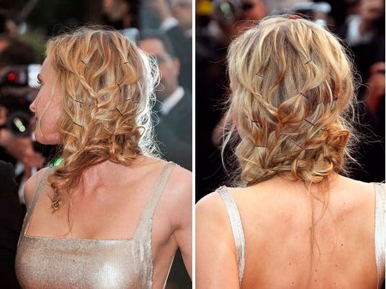 cabello suelto con pasadores