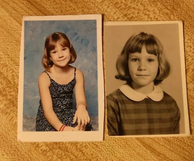 niña parecida a su mamá a la misma edad