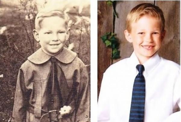 abuelo y nieto a la misma edad