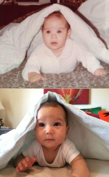 padre e hijo a la misma edad