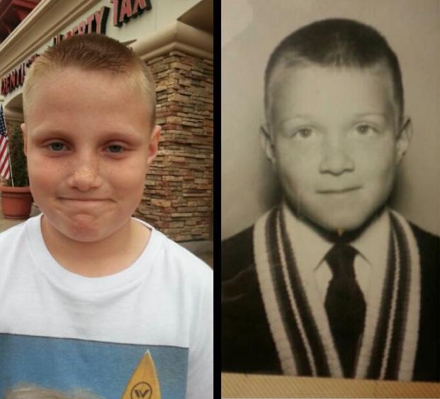 hijo y padre a la misma edad