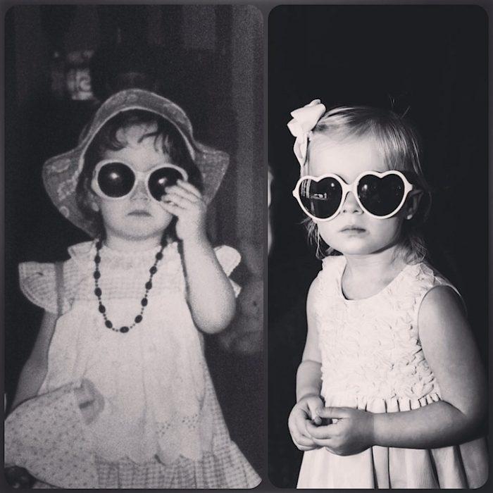 madre e hija a la misma edad