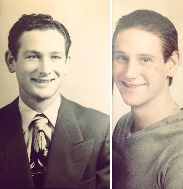 abuelo e hijo a la misma edad