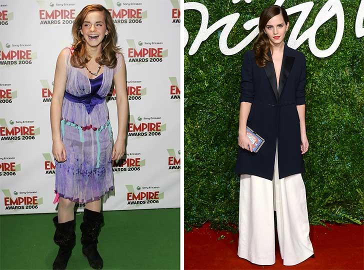 Emma Watson 2006 y ahora