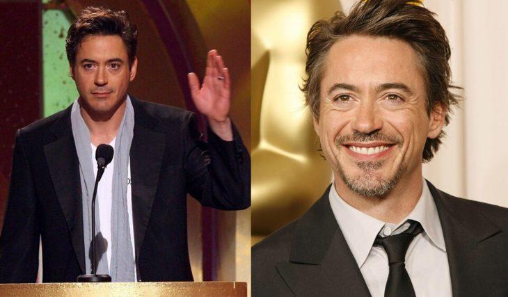 Robert Downey Jr en 2006 y ahora