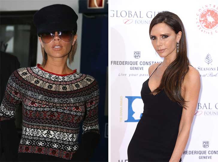 Victoria Beckham 2006 y ahora